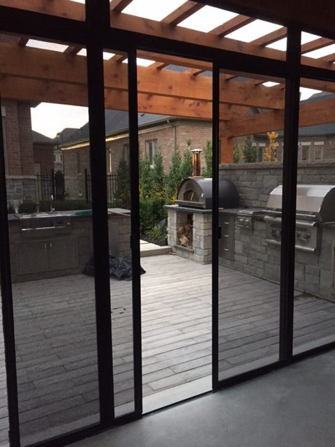 Screen doors out to deck